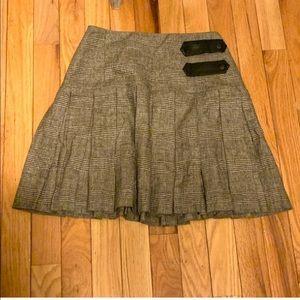 Alice + Olivia Pleated Plaid Mini Skirt